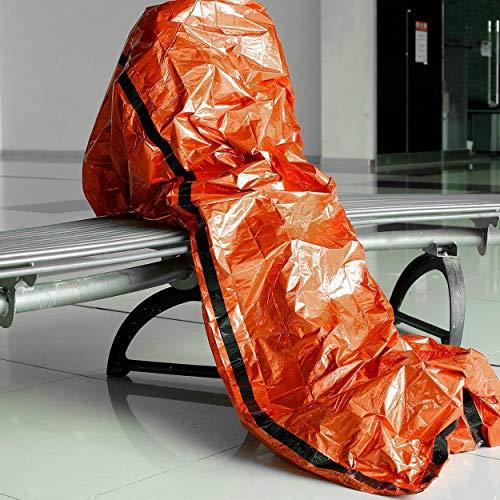 Lorenlli Sacs de couchage en plein air Sacs de couchage d'urgence portatifs Sacs de couchage en polyéthylène léger pour le camping Voyage de randonnée