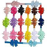 20 Piezas Diademas Bandas de Lazo para el Pelo - Accesorios para Cabello de Bebes, Niñas - Diferentes Colores
