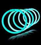 8 Lumistick Glowsticks Glow Stick Bracelets Aqua Tube of 100