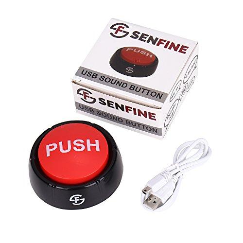 Preisvergleich Produktbild USB Sound Button - frei bespielbarer Buzzer für Spaß im Büro - Scherzartikel für Kinder und Erwachsene
