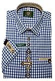 Orbis Trachtenhemd Blau weiß XXXL