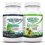 SUPERPACK! - Garcinia Cambogia Complex + Detox colon cleanse 6000+. US Original de ScientyLabs avec Garcinia Cambogia Multikomplex + actuel très fort er SL colon cleanser
