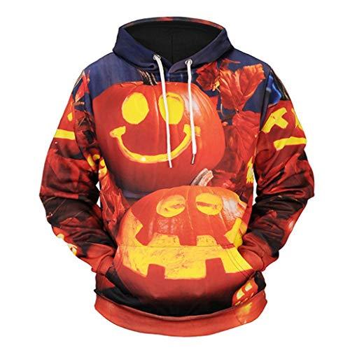 (ITISME TOPS Frauen Halloween Casual Printed Lustige Langarm Sweatshirt Tops Bluse)