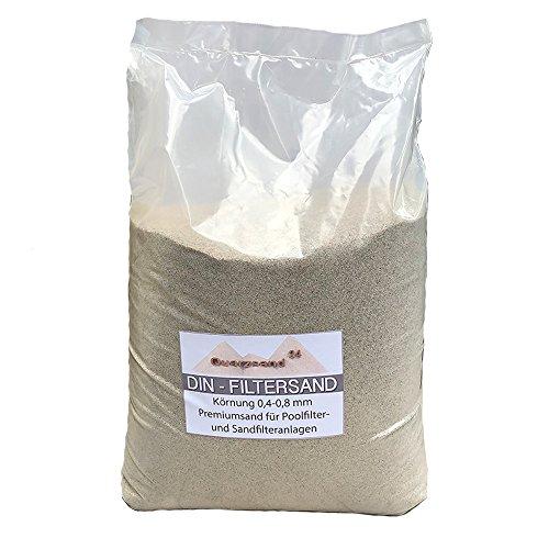 2 x 25 kg Filtersand für Sandfilteranlagen Quarzsand 0,4-0,8 mm H1 Marke Meinpool24.de