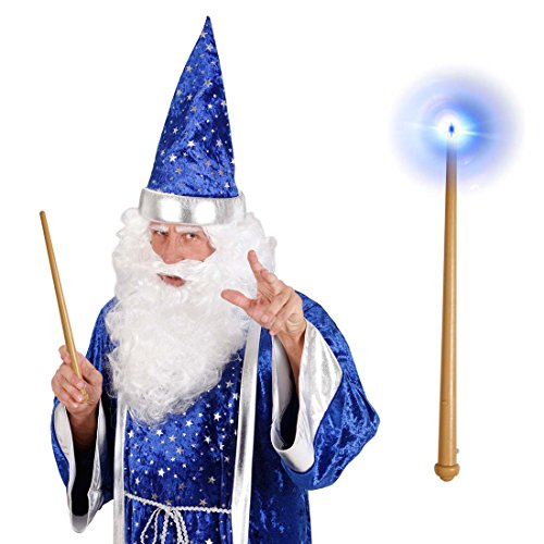 Stab mit Licht und Sound Märchen Feenstab Halloween Magierstab Cosplay Lichtstab Zauberer Leuchtstab (Halloween Sound)