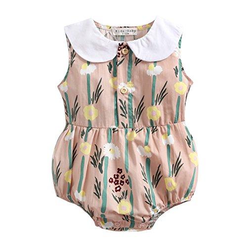 ken Kleinkind Baby Mädchen Sommer Baumwolle Body Schön Baby Spielanzug (12-18 Monate, BRS8039) ()