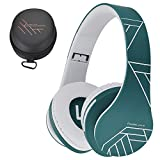 PowerLocus P2 - Auriculares Bluetooth inalambricos de Diadema Cascos Plegables, Casco Bluetooth con Sonido Estéreo Micro SD/TF, FM con micrófono y Audio Cable para Movil, PC, Tablet - Azul