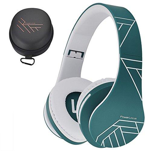 PowerLocus Casque Bluetooth sans Fil, Casque Audio stéréo Pliable sans Fil et Filaire avec Micro intégré, Micro SD/TF, FM pour iPhone/Wiko/Samsung/iPad/PC (Bleu)