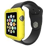 Gaddrt Ultra-Slim gel de silice mignon protéger housse pour Apple Watch série 1 42 mm (Jaune)