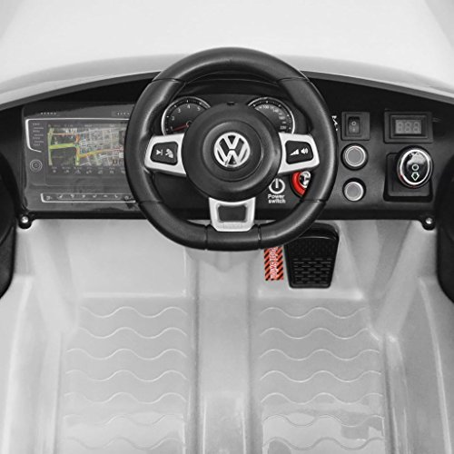 RC Kinderauto kaufen Kinderauto Bild 1: SENLUOWX Kinderauto Elektroauto VW Golf GTI 7 Weiß 12 V Kinderfahrzeug Kinderauto mit Fernbedienung*