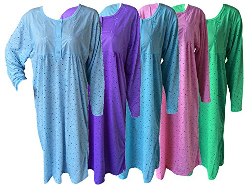 Socksmad - Chemise de nuit - Femme Bleu turquoise Medium Rose