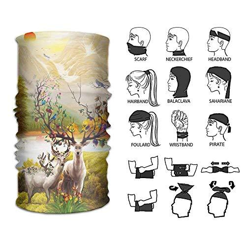 Rghkjlp headband wild milu deer outdoor multifunctional headwear 16 ways to wear your magic headwear scarf outdoor4