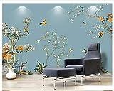 HONGYAUNZHANG Motif De Fleurs De Prunier Et D'Oiseaux Personnalisé Photo Wallpaper 3D Stéréoscopique Murale Salon Chambre Canapé Toile De Fond Murales Murales,200Cm (H) X 280Cm (W)