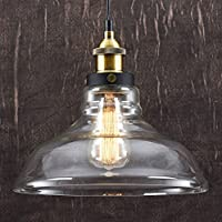 Modern Glass Shade Ceiling Light With A Vintage Bronze Lamp Holder Beautiful Industrial Hanging