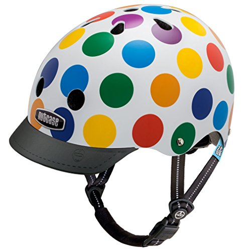 Little Nutty by Nutcase Gen3, Casco ciclismo Bambino, Multicolore (Dots), XS