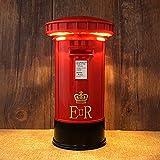 YOCC BambinoLampada da Comodino Vintage, Touch Portable Dimmable Postbox Night Light salvadanaio, Touch Sensor Night Light, Camera da Letto Dormitorio Illuminazione Home Bar Decor Regalo per Bambini