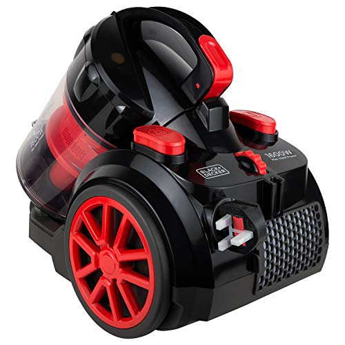 Black&Decker VM1680 Watt Bagless Multi Cyclonic Vacuum Cleaner (Red and Black)