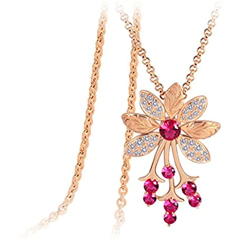 ZWX Altri colori/Collana di diamanti/ Japan style/Piantare fiori/ singolo elemento-D