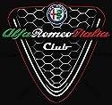 Sticker-Designs 75cm! Aufkleber-Folie Wetterfest Made IN Germany Alfa Romeo Italia Club Logo Schwarz Kühlergrill AD14-UV&Waschanlagenfest-Auto-Vinyl-Sticker Decal Profi Qualität bunt farbig!