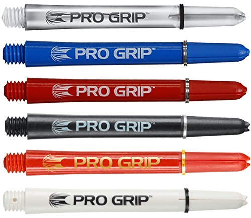 Target Pro Grip - Dart Shafts mit Ringen - 15 Shafts (5 Sets) - Schwarz