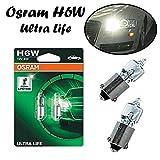 2x Osram Ultra Life H6W 12V BAX9S 64132ULT-02B Weiß High Tech Ersatz Halogen Birne für Hecklicht Parklicht Rückfahrlicht Standlicht Kennzeichenlicht Einrichtunglicht E-geprüft