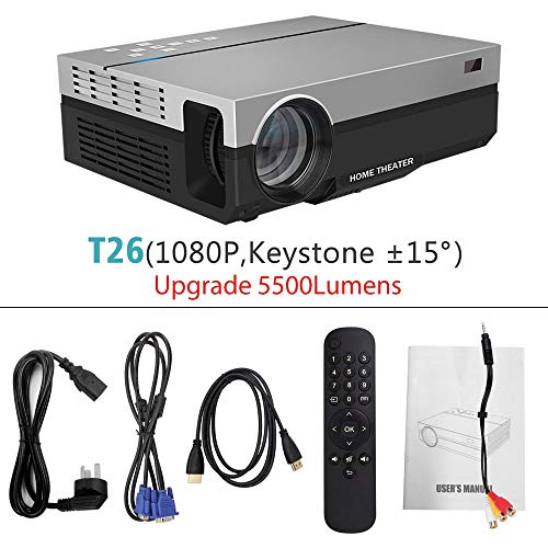 SMEI 3D Beamer Full Hd Projector T26k Native 1080p 5500 Lumens Video Led LCD Home Cinema Theater USB Tv T26 15-Jährigen Lcd Ceiling Support