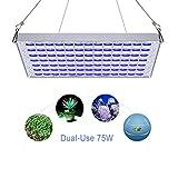 TOPLANET 75W Lampade per Piante Led Acquario Lampade Aquarium Light LED Pannel Grow Light per Grow Box/Idroponica Kit Marino Luce per Coral Pesce Crescita
