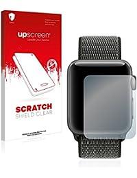 upscreen Scratch Shield Protector Pantalla Apple Watch Series 3 (42mm) Película Protectora – Transparente, Anti-Huellas