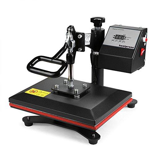 Lartuer Transferpresse Textilpresse T Shirtpresse Heat Press Machine 24X30cm mit Elektronische Zeitregelung und Temperaturüberwachung (24X30cm) - 3