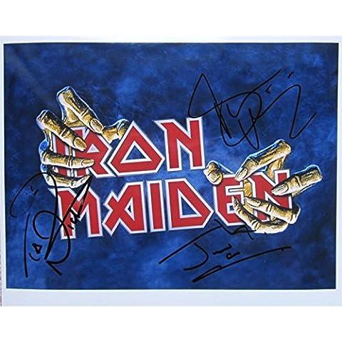 Gran firmada por 10 x 8 IRON MAIDEN de fotos + Hart!