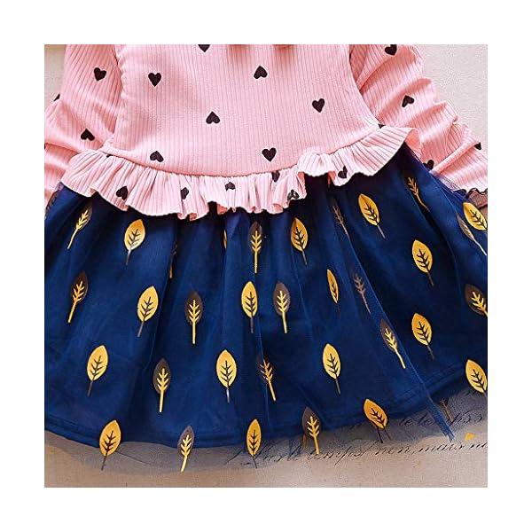 Tefamore Vestidos Niña Navidad Bebe Niños Manga Larga De Punto Arco Ropa Recién Nacido Niña Tutú Princesa Vestido Ropa… 5