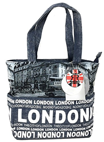 Autobus photo de Londres Robin Ruth Marine Sac Bleu Shopper