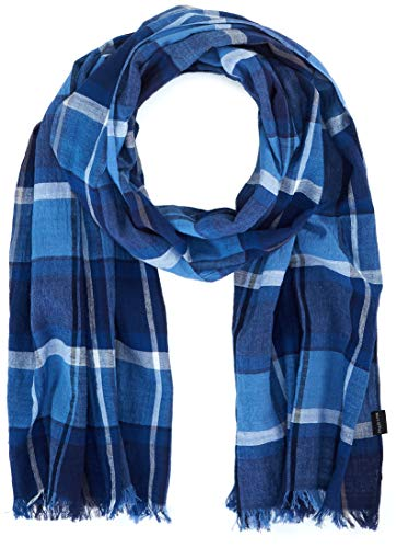Marc O'Polo Herren Schal 9.21804e+11 Blau (Estate Blue 857) One Size (Herstellergröße: OSO)