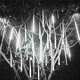 Surenhap Meteorschauer Lichtleiste, 30CM Rain Drop Lights Lichterkette Lichterregen Meteorschauer IP65 Wasserdichte Mete