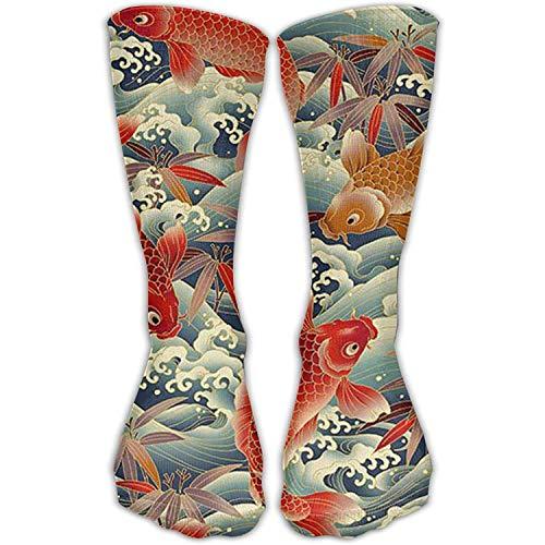 Bequemer erwachsener kniehoher Socken-netter Goldfisch-Fisch-Tiermannschaft-Halloween-Rohr-jugendlich Mädchen-Turnhallen-Socken-Strumpf im Freien