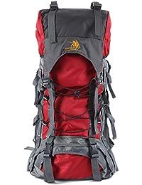 elecfan mochila de senderismo, mochilas de senderismo unisex mochilas mochila de viaje 60L mochila de montañismo senderismo grande damas para hombre para acampar al aire libre senderismo escalada de viaje escalada (rojo)