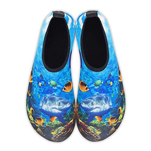 Breve del Prodotto Secco Acqua Sottomarino Respirabile Stile Scarpe a Piedi Nudi Piatto Scarpe Spiaggia Coppia Calzini Scarpe da Corsa