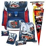 Feuerwehr Schulranzen-Set 7tlg, Scooli Undercover, Campus Fit mit Feurwehr-Schultüte 85 cm und Schultütenschmuck