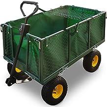 Bollerwagen ✔ herausnehmbare Plane ✔ bis 544kg belastbar - Handwagen Transportkarre Gartenkarre Gartenwagen Transportwagen