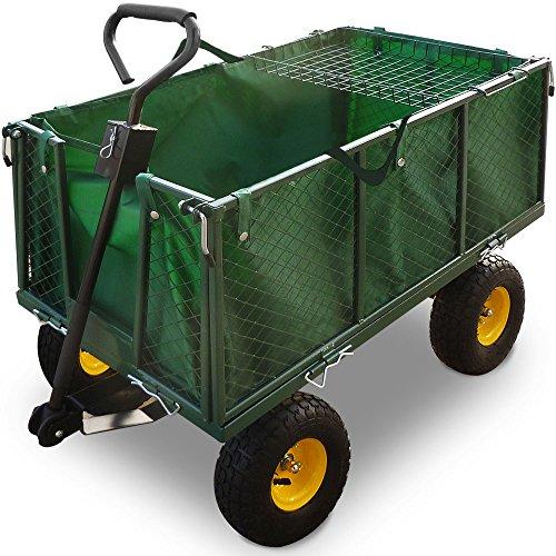 Bollerwagen ✔ herausnehmbare Plane ✔ bis 544kg belastbar – Handwagen Transportkarre Gartenkarre Gartenwagen Transportwagen