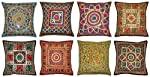 Indian Handmade Cotton Cushion Cover Decor Vintage Pillow Covers, Decorative Sofa Cover 16 X 16 Inches 10 Pcs Lot By...