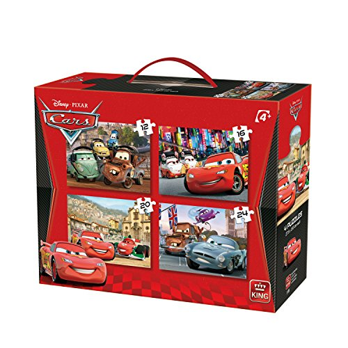 """Image of KING 5100 4-In-1 """"Disney Cars 2"""" Puzzle"""