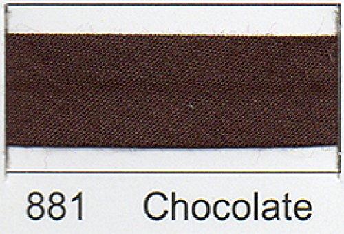 Polycotton Schrägband 12 mm - (2,5 M) Braun