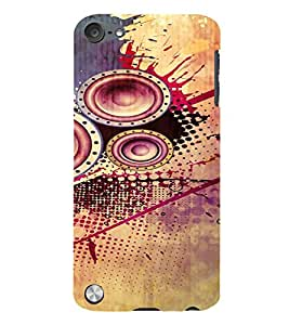 PrintVisa Modern Art Speaker Bass Design 3D Hard Polycarbonate Designer Back Case Cover for Apple iPod Touch 5