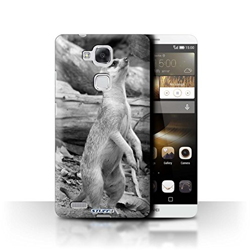Stuff4® Hülle/Hülle für Huawei Ascend Mate7 / Erdmännchen Muster/Zoo-Tiere Kollektion