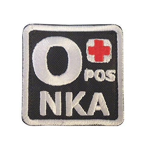 O POS O+ NKA Blutgruppen OD Embroidered Velcro Aufnäher Patch
