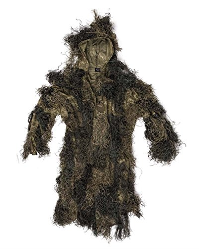 Mil-Tec Ghillie Parka Anti Fire Basic Woodland Gr. M/L