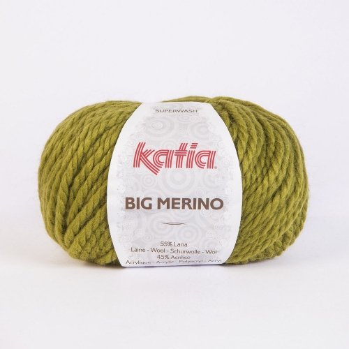 Katia Big Merino 018 green olive 100g Wolle -