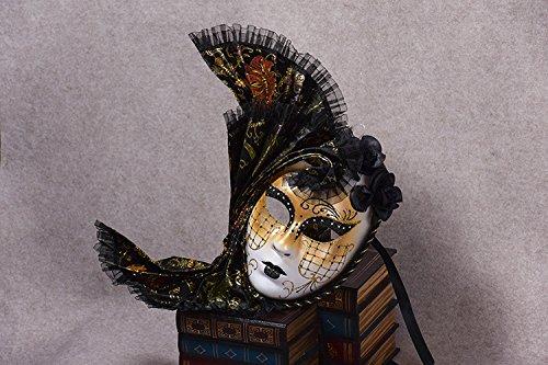K&C Cosplay Maske Venedig Maskerade Maske Halloween Kostüm Schwarz