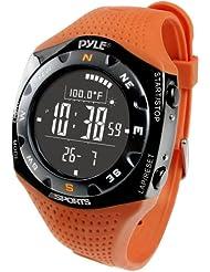 Pyle Ski Master V - Reloj digital altímetro, color naranja